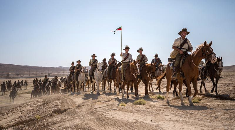 Members of the Australian Light Horse Association participate in a re-enactment ride to commemorate the Battle of Beersheba in Israel. Photo by Corporal Nunu Campos.