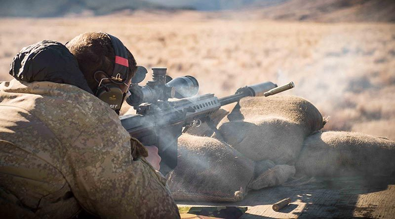 New Zealand Army capbaility branch testing a Barrett M107A1.