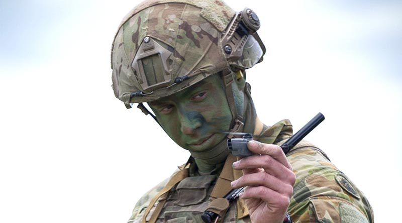 An Australian Army soldier prepares to launch a PD-100 Black Hornet nano unmanned aerial vehicle during Exercise Chong Ju at Puckapunyal. Photo by Corporal David Said.
