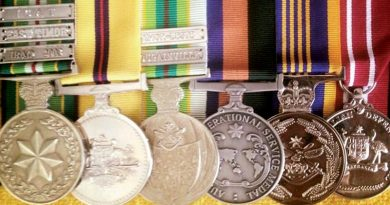 Dave Finney's medals