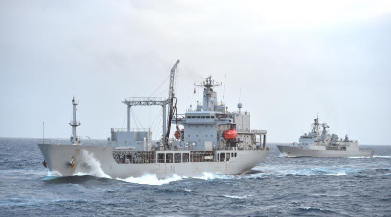 File photo: HMNZS Endeavour at sea. NZDF photo.