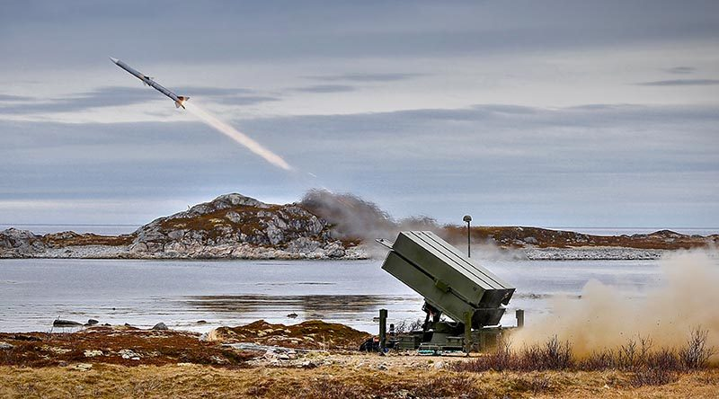 NASAMS test fire in Norway. Kongsberg photo by Andøya Mai.