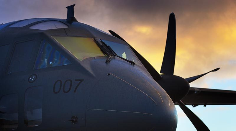 A RAAF C-27J Spartan at Shark Bay Airport, Western Australia. Photo by Corporal Oliver Carter.