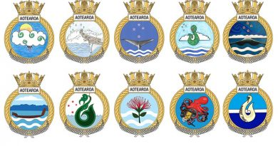 The top 10 badges for New Zealand's future HMNZS Aotearoa.