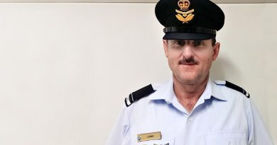 Flying Officer (AAFC) Paul Lemar, incoming Commanding Officer of No 602 Squadron, AAFC.