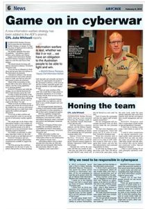 Read in Air Force Newspaper