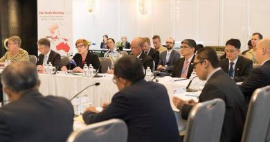 Inaugural Sub-Regional Defence Ministers' Meeting on Counter-Terrorism in Perth. Photo from Minister Payne's Facebook page.