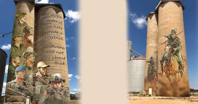 Proposed silo art for the Mildura region. Attributed to Ian Coate.