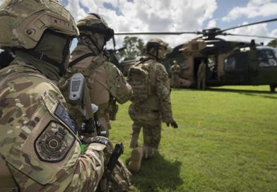 Army helicopters help with Comm Games security