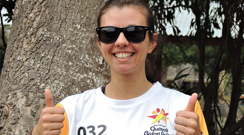 Leading Aircraftwoman (AAFC) Liz Gardener, a 2018 Commonwealth Games Queen's Baton Bearer.