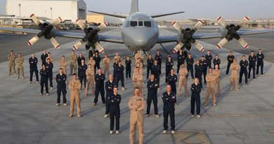 Members of the New Zealand Defence Force maritime surveillance mission in the Middle East. Credit: Australian Defence Force