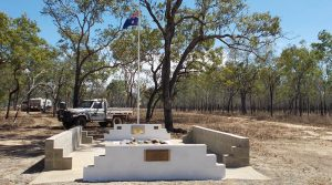 The veterans' memorial at Pandanus Park looking significantly improved.