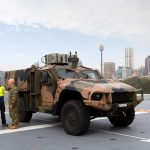 Hawkei visits the Navy in Sydney
