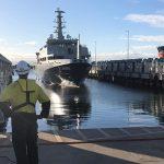 MV Sycamore docks for 'quick' service