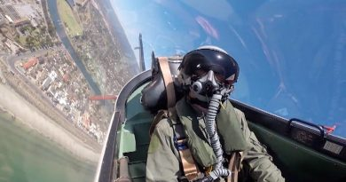 Cadet Under Officer Aaron Musk, 6 Wing, AAFC, gets the flight of his life (thus far) in an Adelaide-based RAAF PC-9.