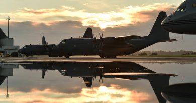 A Royal New Zealand Air Force C-130H(NZ) Hercules ready for departure to the Middle East on an eight-month mission. NZDF photo.