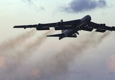 Guam-based B-52 bombers on SE Queensland training run