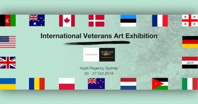 International Veterans' Art Exhibition 2018 announcement