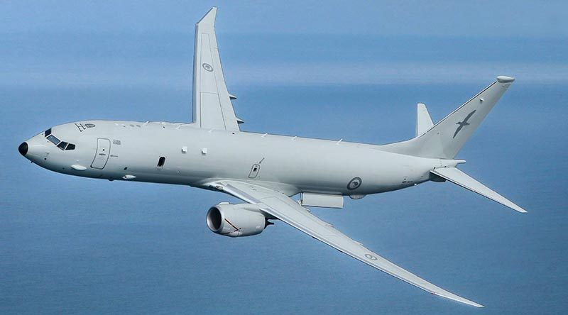 An artist's impression of a Royal New Zealand Air Force P-8A Poseidon. NZDF image.