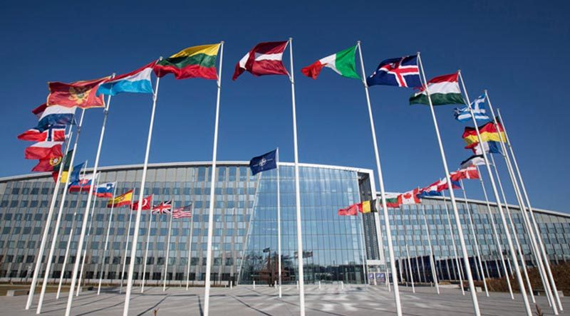 NATO Headquarters in Brussels, Belgium. Official photo.