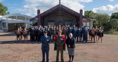 The NZDF coningent that will travel to Belgium to participate in the Beligian National Day Parade in Brussels. NZDF photo.