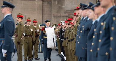 New Zealand's new Chief of Defence Force Air Marshal Kevin Short receives a Pōwhiri and Guard of Honour. NZDF photo.