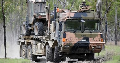 A Rheinmetall MAN truck on exercise in Shoalwater Bay. Photo by Belinda Dinami.