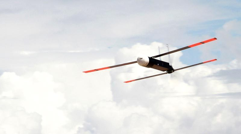 Coyote unmanned aerial vehicle in flight. Raytheon photo.