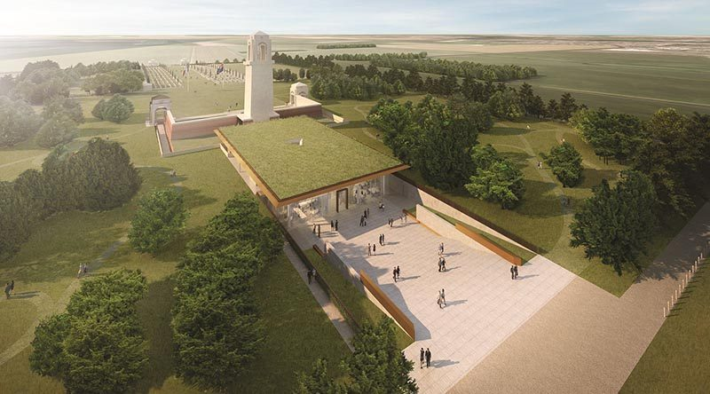 Artist's impression of the Sir John Monash Centre. © Commonwealth of Australia 2018