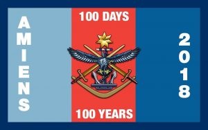 A commemorative souvenir patch produced by the ADF Cadets: designed by CCPL Verryt-Reid and printed/produced by CUO Alexander White (703 Squadron, City of Fremantle).
