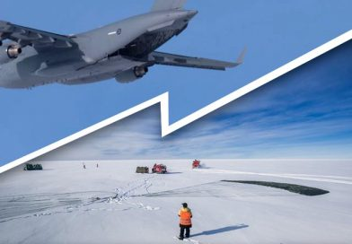 RAAF airdrops parts needed for Antarctic runway maintenance