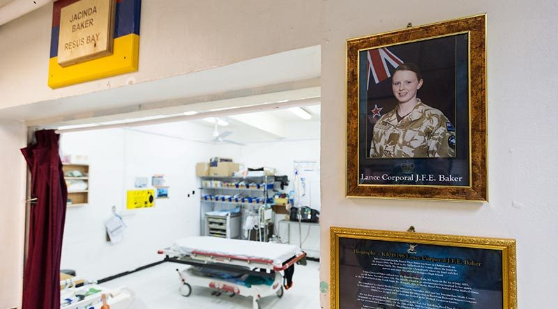 The resuscitation room at the Taji Military Complex health facility named in honour of Lance Corporal Jacinda Baker. Australian Defence Force photo.