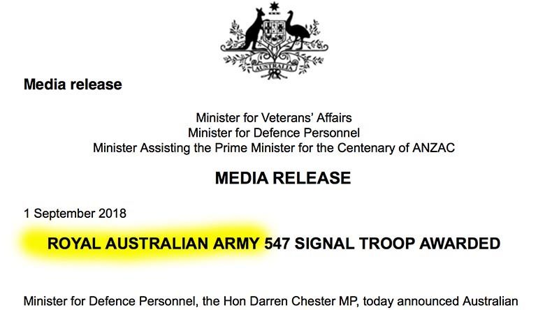 Royal Australian Ministerial faux pas ;-)