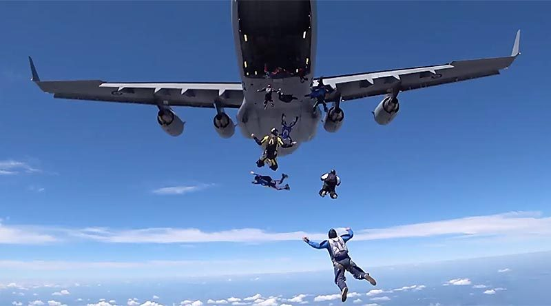 270 skydivers jumped from Royal Australian Air Force No. 36 Squadron C-17A Globemasters Brisbane on Saturday 10 November 2018, raising fund for Legacy.
