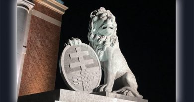 A new Menin Gate lion at Ypres – a gift from the people of Australia. Photo from Darren Chester's Twitter.