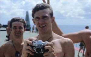 Ian Cavanough with his Canon EXEE camera. He still has it!