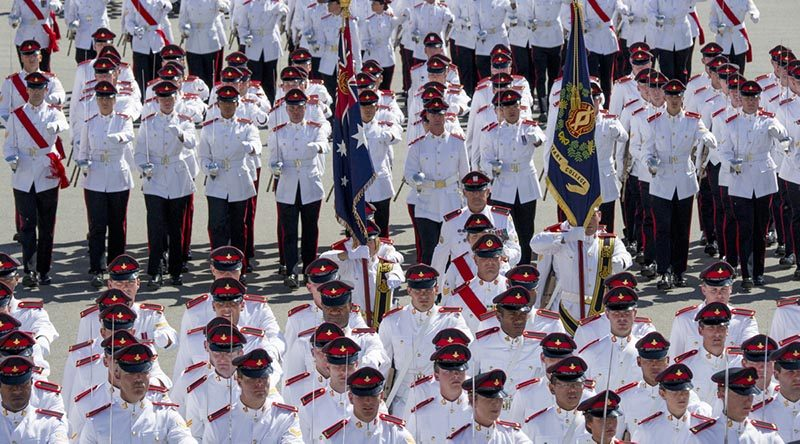 Royal Military College Duntroon full time General Service Officer Graduation parade. Photo by Phillip Vavasour.