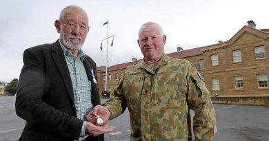Kevan Blom and Major Chris Talbot.