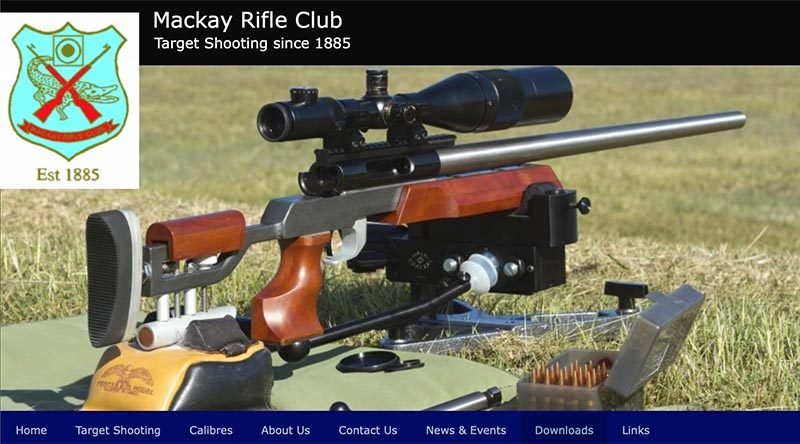 Mackay Rifle Club web-site image.
