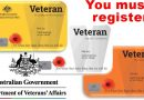 You 'must' register with DVA to get Veteran Lapel Pin