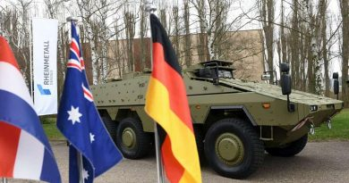 Australia's first Boxer on show in Germany before delivery to Australia. Rheinmetall photo.