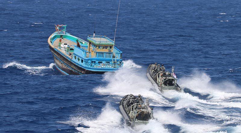 HMAS Ballarat destroys another 2.6 tonne of drugs
