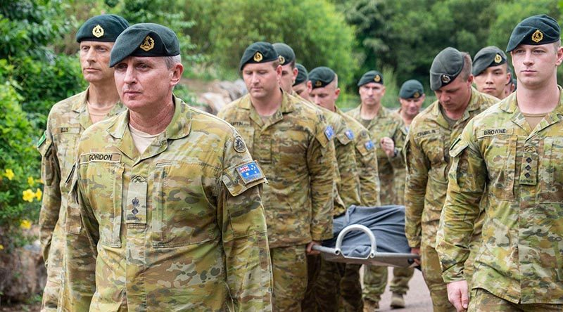 Corporal Quintus Rama was farewelled by members of the Tiger Battalion with a small military ceremony on 2 May 2019, attended bythe CO, RSM and other members of 5RAR.