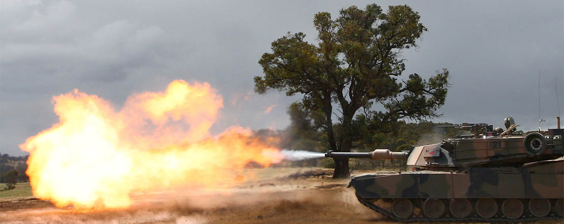 The power of an M1A1 Abrams tank.