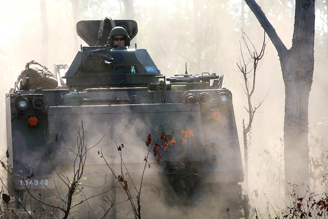 An M113AS4 on the prowl in the Australian bush.