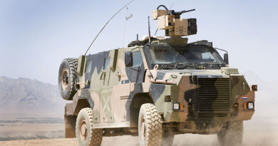 Dutch Bushmaster with .50 cal in Afghanistan .50