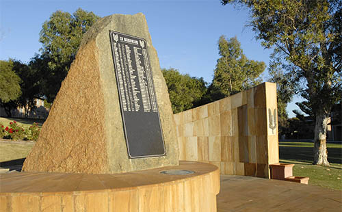 "The Special Air Service Regiment Memorial, commonly called ""The Rock""."