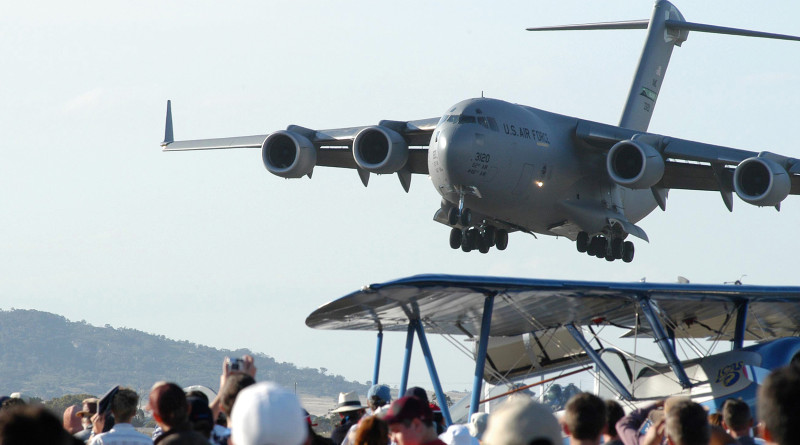 C-17 at Avalon. File photo by Brian Hartigan