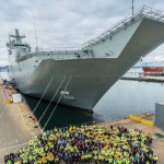About 200 BAE Systems employees, subcontractors, RAN crewmembers and Defence reps will be on board to support the trials, which are expected to last 10 days. BAE Systems photo