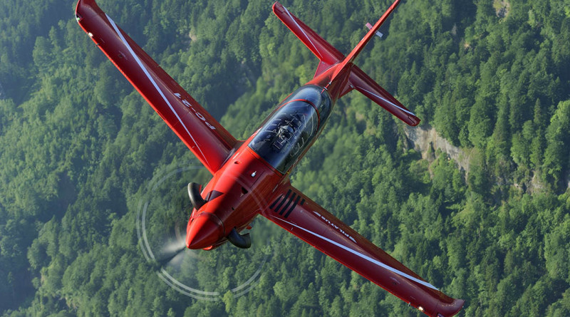 Stock image of a PC-21 aircraft supplied by Lockheed Martin and Pilatus.